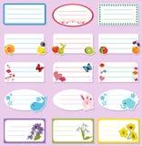 Labels d'école Images stock