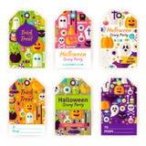Labels d'étiquette de cadeau de Halloween Photo stock