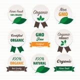 Labels d'aliment biologique Images libres de droits