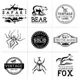 Labels d'animal de vintage Photos stock