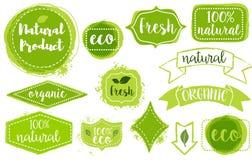 labels d'aspiration de main Image libre de droits