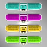 Labels d'Infographic Images libres de droits