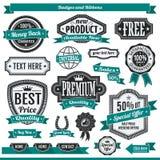Labels d'insignes Photo stock
