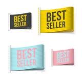 Labels de best-seller avec l'ombre Photos stock