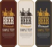 Labels de bière illustration stock