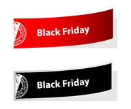 Labels de Black Friday Photos stock