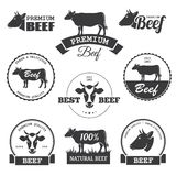 Labels de boeuf illustration stock