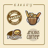 Labels de boulangerie Photographie stock