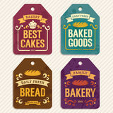 Labels de boulangerie Photographie stock libre de droits