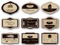 Labels de boulangerie Image libre de droits