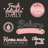 Labels de boulangerie Photo stock