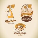 Labels de boulangerie illustration libre de droits