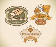 Labels de boulangerie illustration de vecteur
