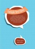 Labels de bulle des textes Illustration Libre de Droits