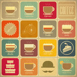 Labels de café Photo stock