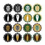 labels de chapeau de bière de vintage Image libre de droits