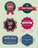 Labels de collection et insignes, rétro ensemble de vintage Photo libre de droits