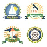 Labels de couleur de voyage Photo stock