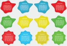 Labels de description Photo libre de droits