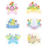 Labels de fleur Photographie stock libre de droits
