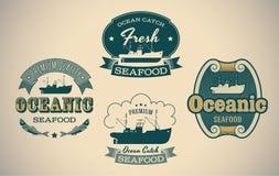 Labels de fruits de mer illustration libre de droits