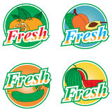 Labels de fruits et légumes Images stock