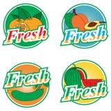 Labels de fruits et légumes Images stock
