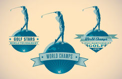 Labels de golf illustration stock
