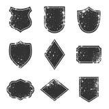 Labels de grunge et éléments de conception, frontières et concept de cadres, vieux insignes de vintage Photos libres de droits