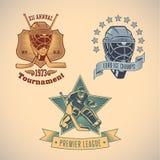 Labels de hockey sur glace illustration stock