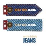 Labels de jeans Photographie stock libre de droits