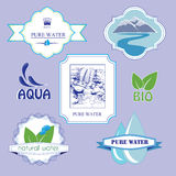 Labels de l'eau Images stock