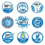 Labels de l'eau Image stock