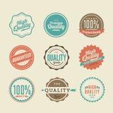 Labels de la meilleure qualité d'autocollants et d'élément de qualité Photo stock