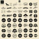 Labels de la meilleure qualité d'autocollants et d'élément de qualité Photographie stock libre de droits