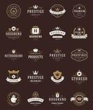 Labels de la meilleure qualité de qualité de rétro vintage Image libre de droits