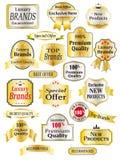 Labels 01 de luxe Images libres de droits
