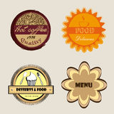 Labels de menu Photographie stock