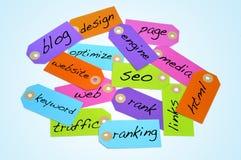 Concepts d'optimisation et d'Internet de moteur de recherche Image stock