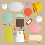Labels de papier de vecteur - étiquettes réglées Images stock