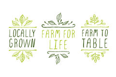 Labels de produit de la ferme Photo stock