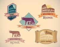 Labels de Rome illustration de vecteur
