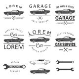 Labels de service de voiture Photo stock