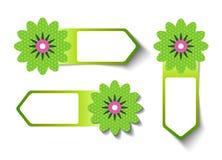 Labels de soldes de printemps illustration de vecteur