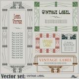 Labels de style de frontière sur différents sujets Images stock