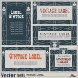 Labels de style de frontière sur différents sujets Image stock