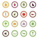 Labels de vecteur avec des légumes Image stock