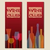 Labels de vecteur de club de vin illustration stock