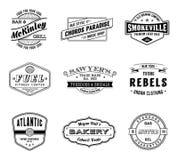 Labels de vecteur de vintage Photographie stock libre de droits