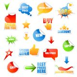 Labels de vente Image stock